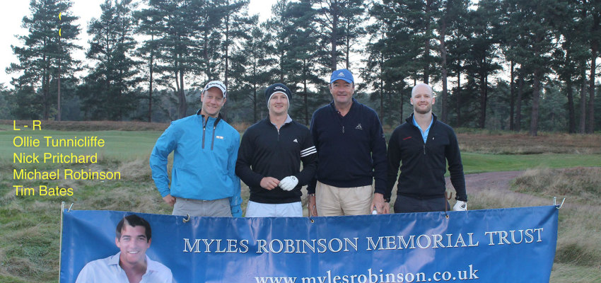 Myles Trust - Golf Day 2014 Robinson Team