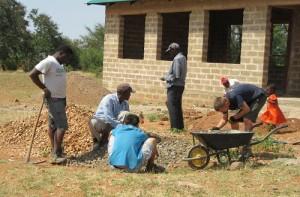 Team at work at Chibe ECD